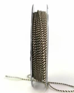 Dünne Kordel, braun/weiß, 1 mm stark - andere-baender, kordeln