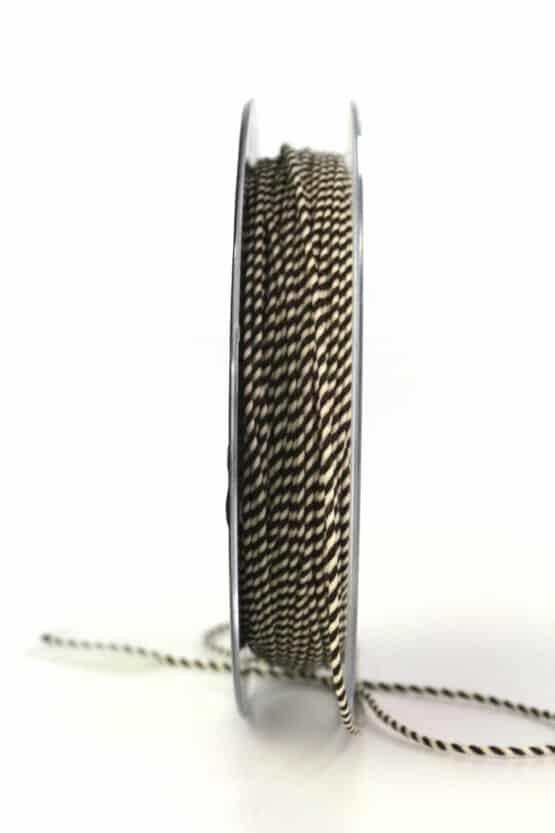 Dünne Kordel, braun/weiß, 1 mm stark - kordeln, andere-baender