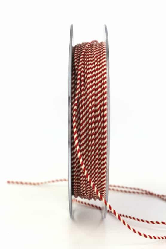 Dünne Kordel, rot/weiß, 1 mm stark - kordeln, andere-baender