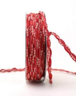 Bandkombination rot-rot-kariert, 7 mm - geschenkband, geschenkband-gemustert, dekoband