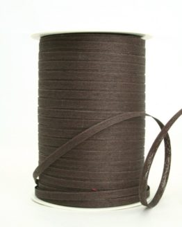 Baumwoll-Kräuselband braun, 5 mm - kompostierbare-geschenkbaender, ballonbaender, raffia, polyband, bastband