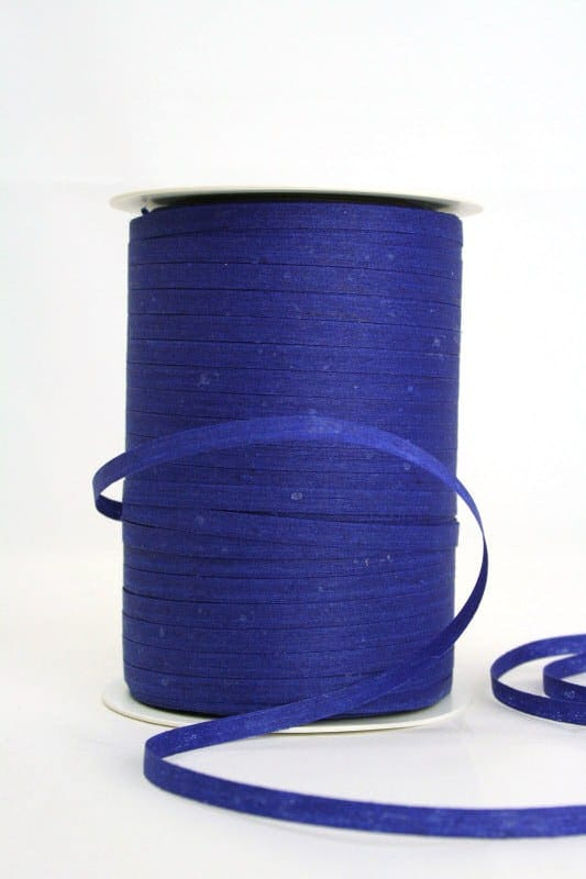 Baumwoll-Kräuselband dunkelblau, 5 mm - raffia, polyband, kompostierbare-geschenkbaender, bastband, ballonbaender
