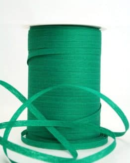 Baumwoll-Kräuselband dunkelgrün, 5 mm - kompostierbare-geschenkbaender, ballonbaender, raffia, polyband, bastband