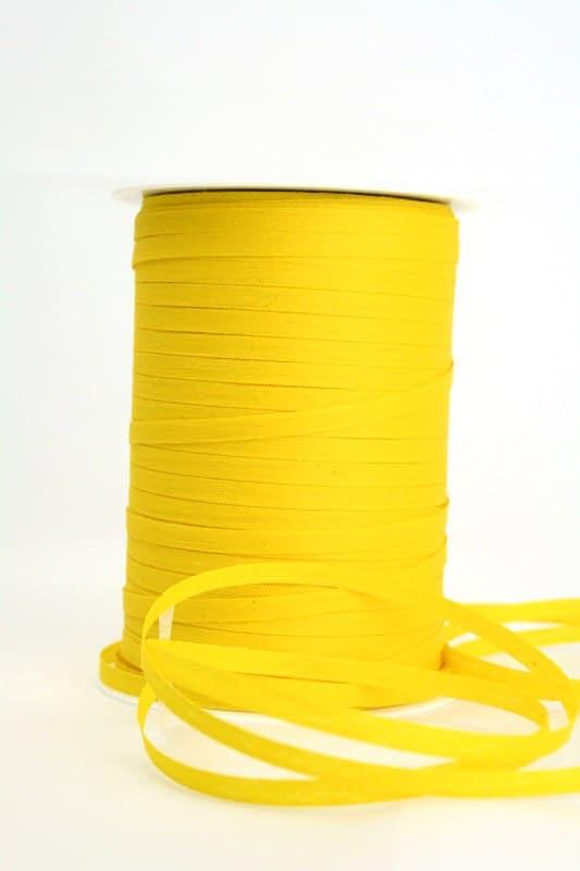Baumwoll-Kräuselband gelb, 5 mm - raffia, polyband, kompostierbare-geschenkbaender, bastband, ballonbaender
