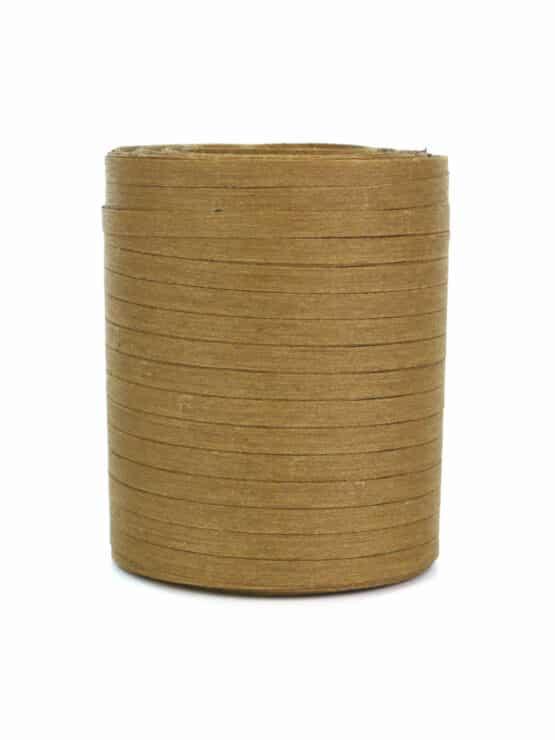Baumwoll-Kräuselband senfgelb, 5 mm - raffia, polyband, kompostierbare-geschenkbaender, bastband, ballonbaender