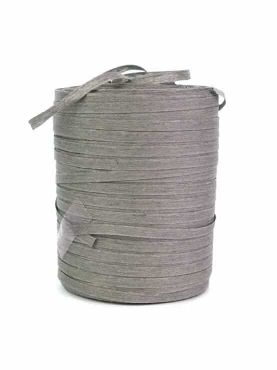 Baumwoll-Kräuselband steingrau, 5 mm - raffia, polyband, kompostierbare-geschenkbaender, bastband, ballonbaender