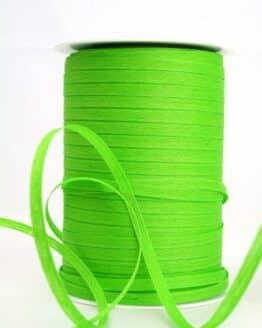 Baumwoll-Kräuselband hellgrün, 5 mm - kompostierbare-geschenkbaender, ballonbaender, raffia, polyband, bastband