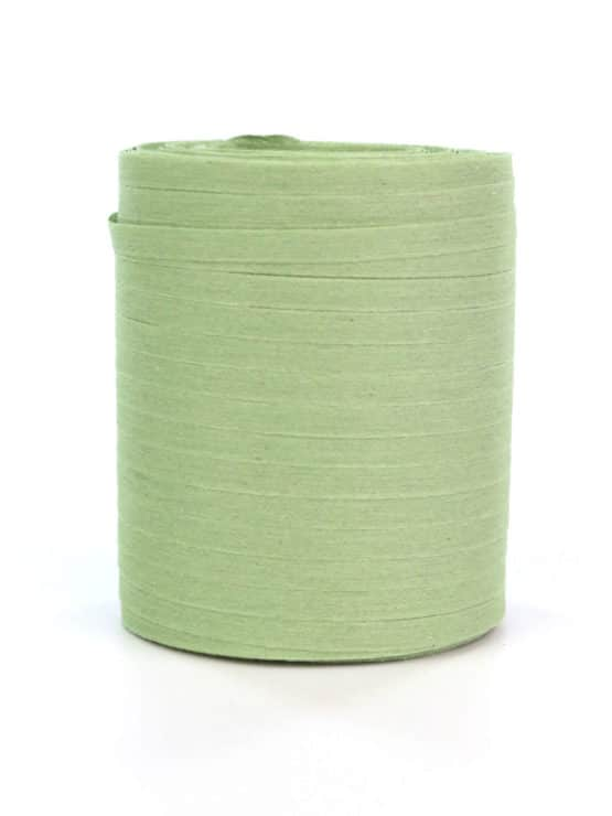 Baumwoll-Kräuselband lindgrün, 5 mm - raffia, polyband, kompostierbare-geschenkbaender, bastband, ballonbaender