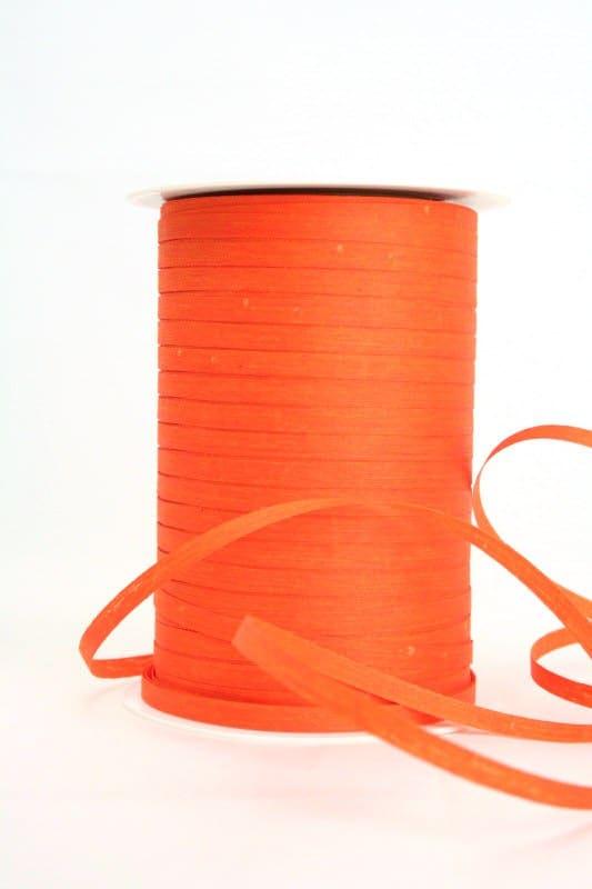Baumwoll-Kräuselband orange, 5 mm - raffia, polyband, kompostierbare-geschenkbaender, bastband, ballonbaender
