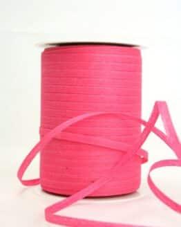Baumwoll-Kräuselband pink, 5 mm - kompostierbare-geschenkbaender, ballonbaender, raffia, polyband, bastband