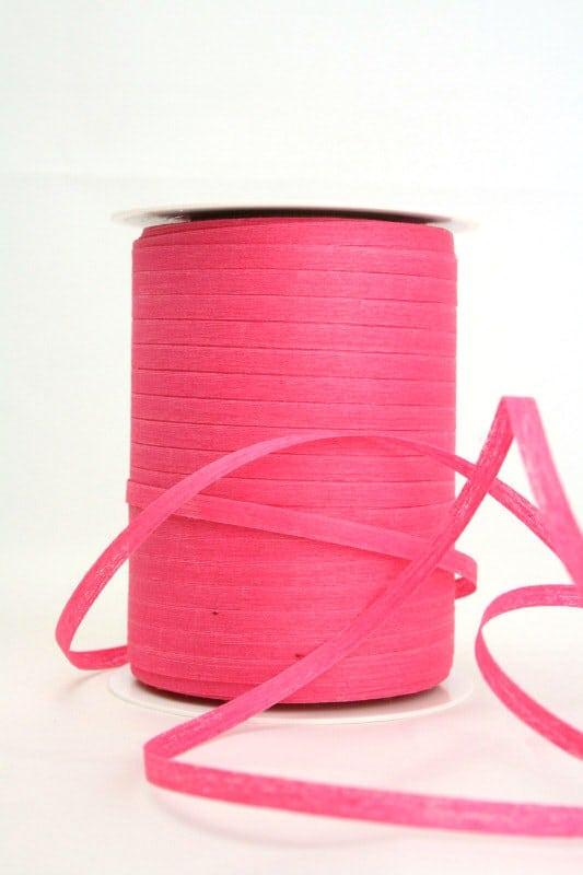 Baumwoll-Kräuselband pink, 5 mm - raffia, polyband, kompostierbare-geschenkbaender, bastband, ballonbaender