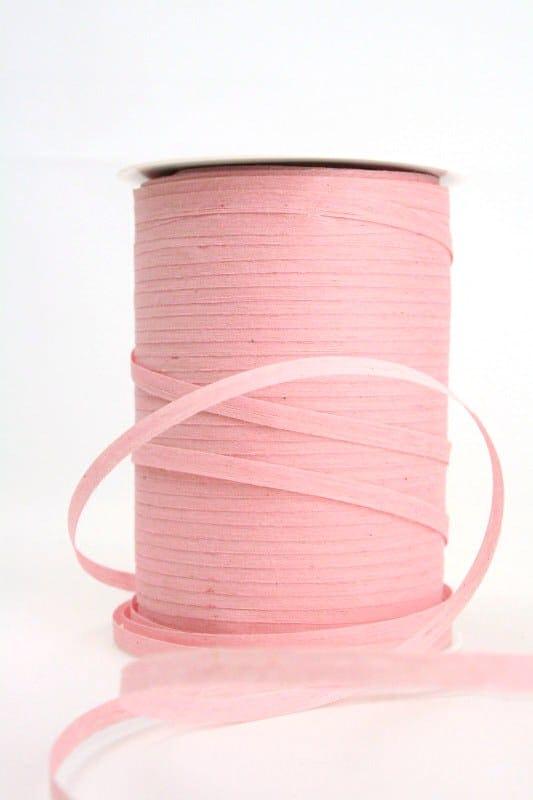 Baumwoll-Kräuselband rosa, 5 mm - raffia, polyband, kompostierbare-geschenkbaender, bastband, ballonbaender
