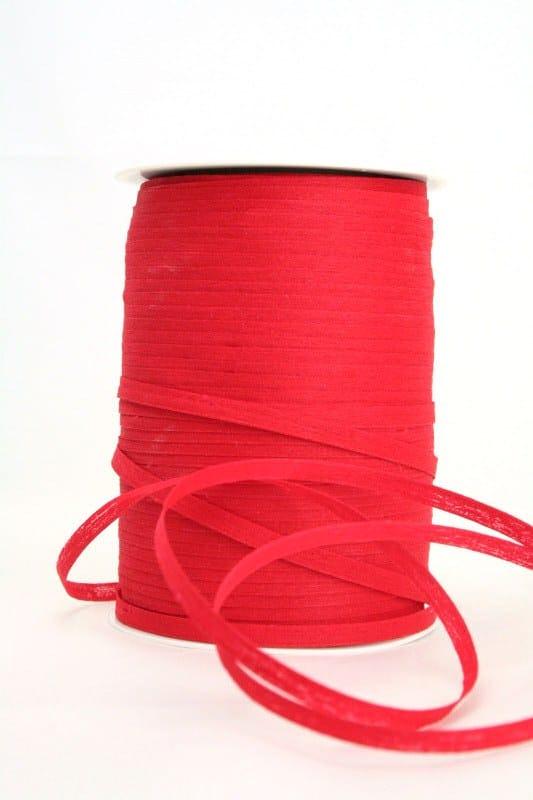 Baumwoll-Kräuselband rot, 5 mm - raffia, polyband, kompostierbare-geschenkbaender, bastband, ballonbaender