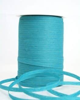 Baumwoll-Kräuselband türkis, 5 mm - kompostierbare-geschenkbaender, ballonbaender, raffia, polyband, bastband