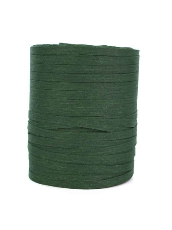 Baumwoll-Kräuselband tannengrün, 5 mm - raffia, polyband, kompostierbare-geschenkbaender, bastband, ballonbaender