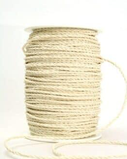 Baumwollkordel creme-weiß, 3 mm - kordeln