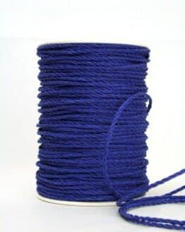 Baumwollkordel dunkelblau, 3 mm - kordeln