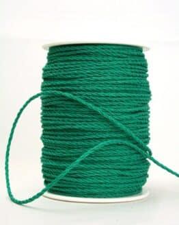 Baumwollkordel dunkelgrün, 3 mm - kordeln
