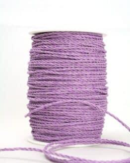 Baumwollkordel flieder, 3 mm - kordeln