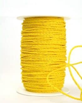 Baumwollkordel gelb, 3 mm - kordeln