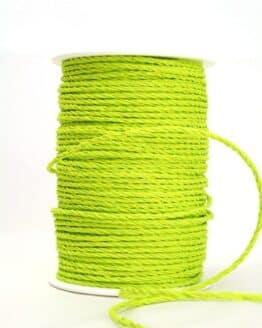 Baumwollkordel hellgrün, 3 mm - kordeln