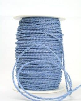 Baumwollkordel hellblau, 3 mm - kordeln