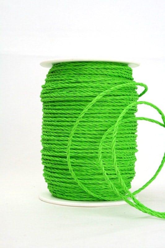 Baumwollkordel grün, 3 mm - kordeln