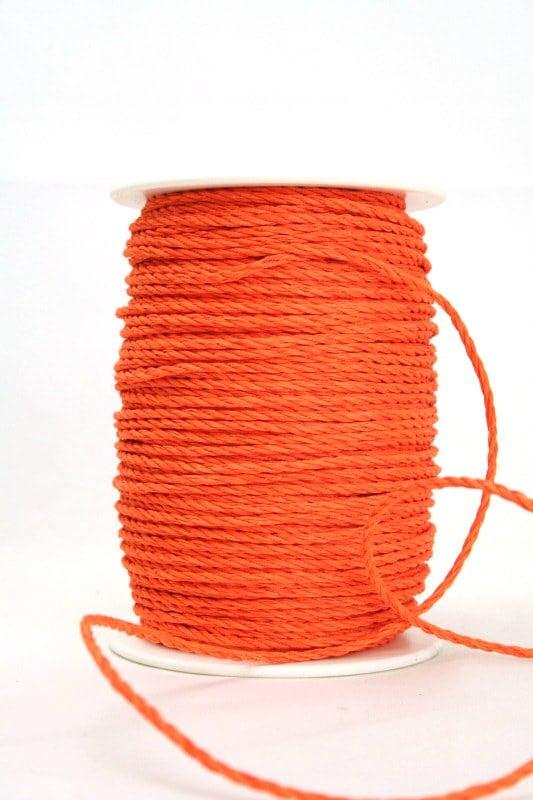Baumwollkordel orange, 3 mm - kordeln
