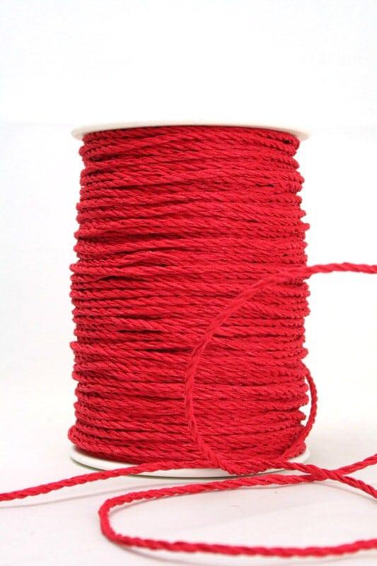 Baumwollkordel rot, 3 mm - kordeln