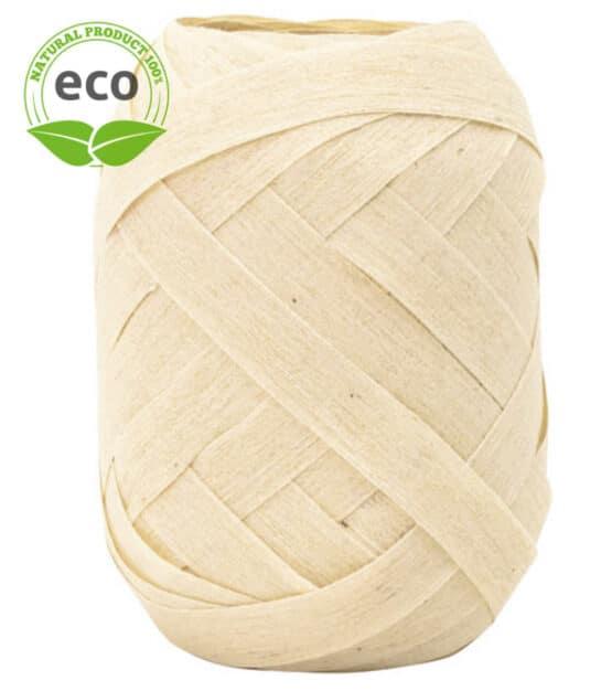 Baumwoll-Ringelband, creme, 10 mm breit, ECO - polyband, kompostierbare-geschenkbaender, geschenkband, geschenkband-einfarbig, eco-baender, ballonbaender