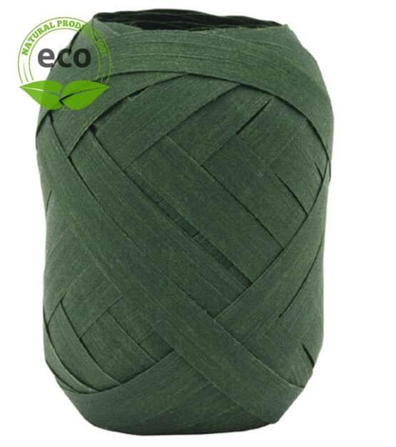 Baumwoll-Ringelband, dunkelgrün, 10 mm breit, ECO - polyband, kompostierbare-geschenkbaender, geschenkband, geschenkband-einfarbig, eco-baender, ballonbaender