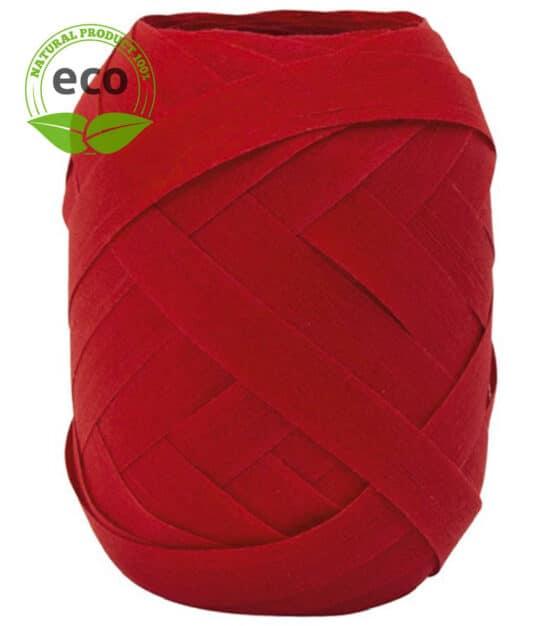 Baumwoll-Ringelband, rot, 10 mm breit, ECO - polyband, kompostierbare-geschenkbaender, geschenkband, geschenkband-einfarbig, eco-baender, ballonbaender