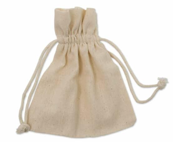 Baumwoll-Säckchen natur, 130x100 mm - geschenkverpackung, geschenk-saeckchen