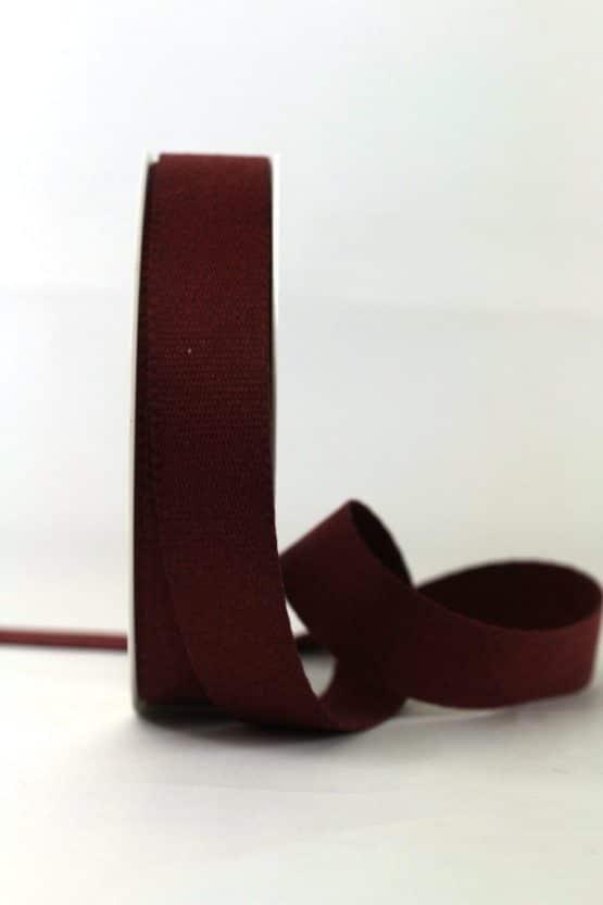 Baumwollband, bordeaux, 25 mm breit - geschenkband-einfarbig