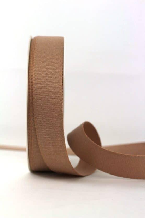 Baumwollband, braun, 25 mm breit - geschenkband-einfarbig