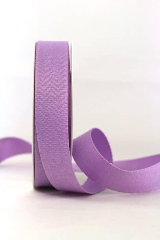 Baumwollband, flieder, 25 mm breit - geschenkband-einfarbig