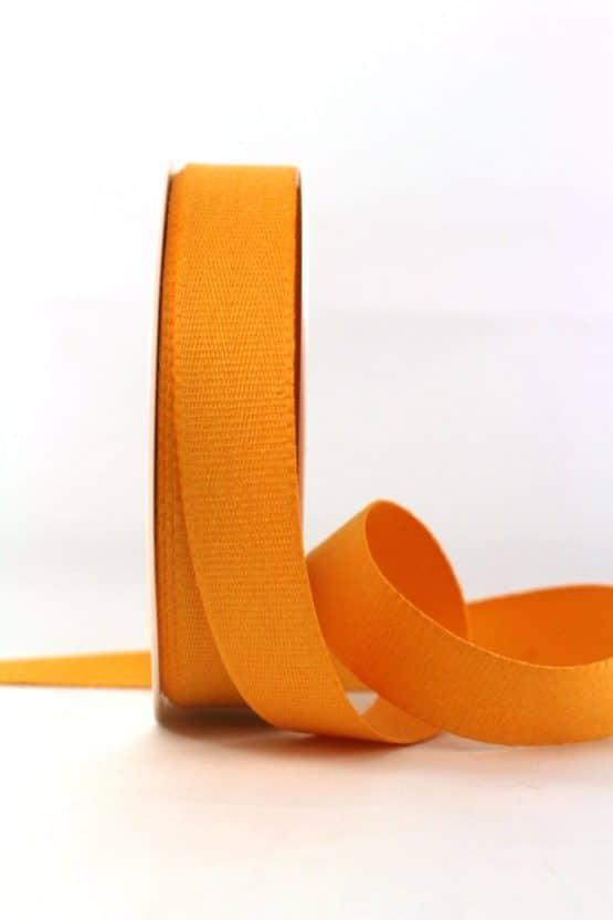 Baumwollband, dottergelb, 25 mm breit - geschenkband-einfarbig