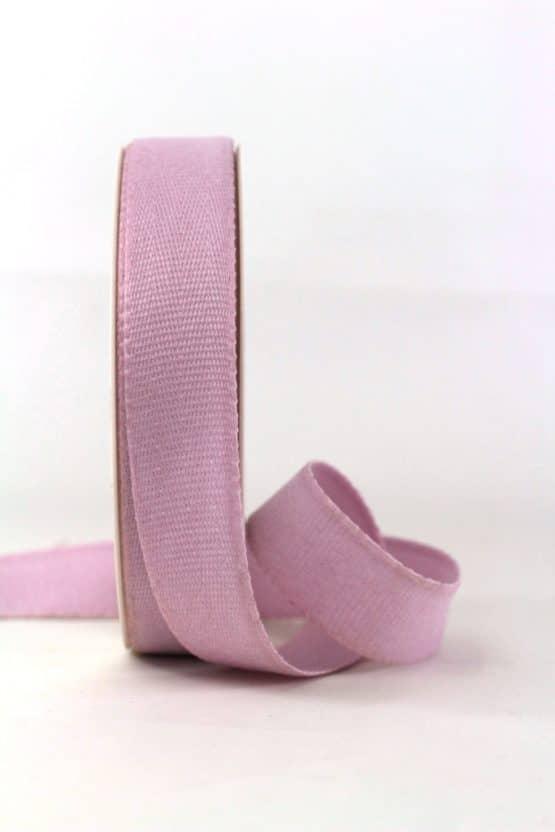 Baumwollband, hellflieder, 25 mm breit - geschenkband-einfarbig