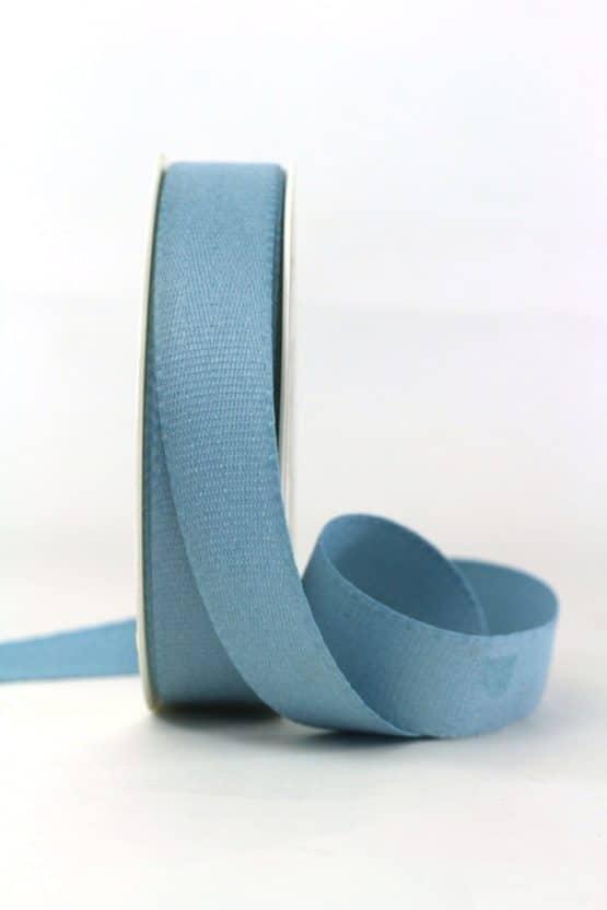 Baumwollband, jeansblau, 25 mm breit - geschenkband-einfarbig