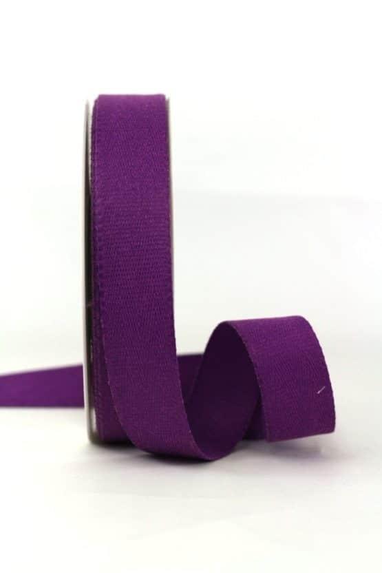 Baumwollband, lila, 25 mm breit - geschenkband-einfarbig