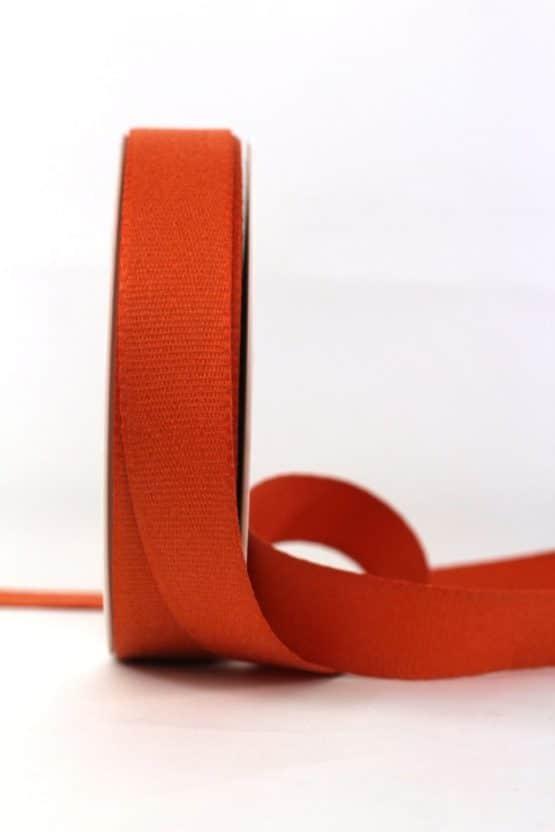 Baumwollband, orange, 25 mm breit - geschenkband-einfarbig