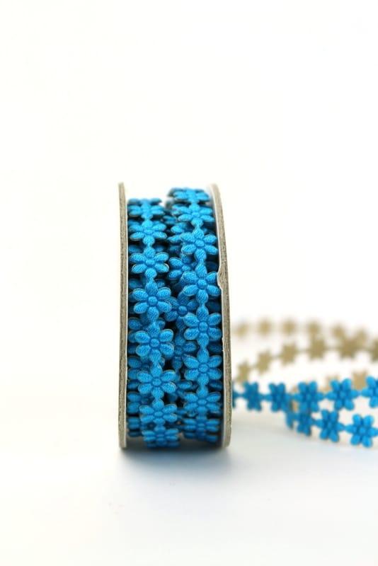 Blüten-Borte blau, selbstklebend, 8 mm - dekogirlande
