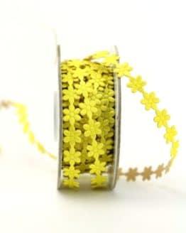 Blüten-Borte gelb, selbstklebend, 8 mm - dekogirlande