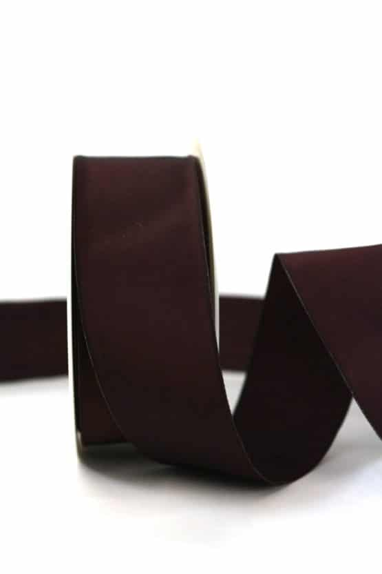 Changierendes Taftband, bordeaux, 40 mm breit - geschenkband-einfarbig