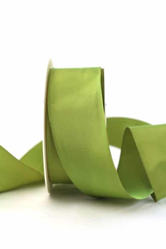 Changierendes Taftband, grün, 40 mm breit - geschenkband-einfarbig