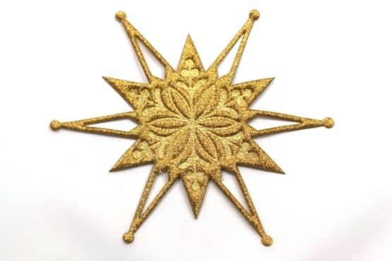 Deko-Stern, gold, 120 mm, 20 Stück - accessoires