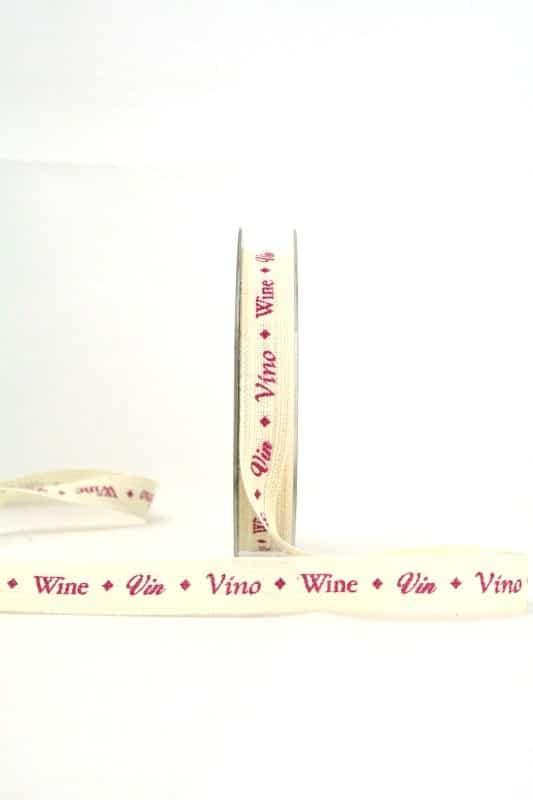 Geschenkband Wein, 15 mm breit - essen-trinken, anlasse