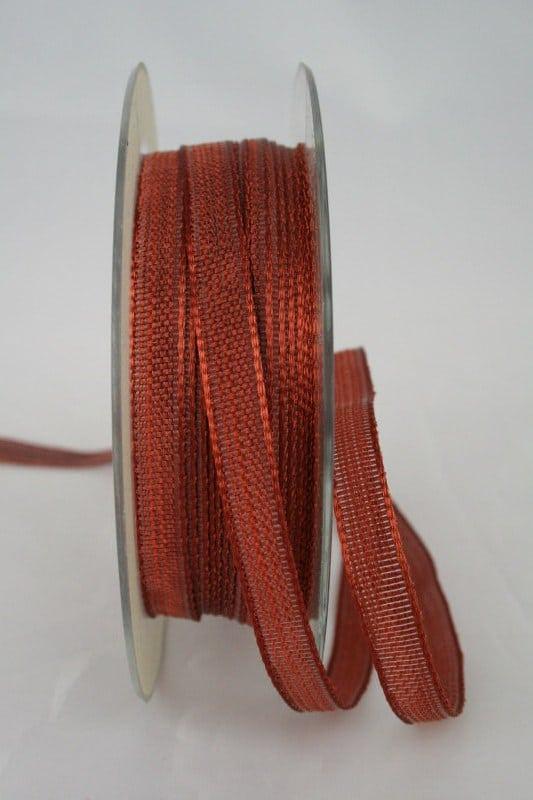 Schmales Dekoband mit Struktur, braun, 10 mm breit - sonderangebot, dekoband