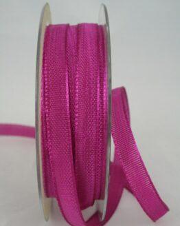 Schmales Dekoband mit Struktur, dunkelpink, 10 mm breit - dekoband