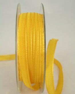 Schmales Dekoband mit Struktur, gelb, 10 mm breit - dekoband